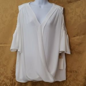 NWT White Blouse by Gibson Latimer szXL